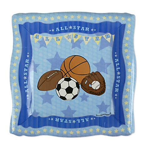 Sports Baby Shower by All Sports Baby Shower Dessert Plates 8 Ct