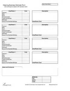 cleaning estimate template free cleaning quotes template printable commercial autos weblog