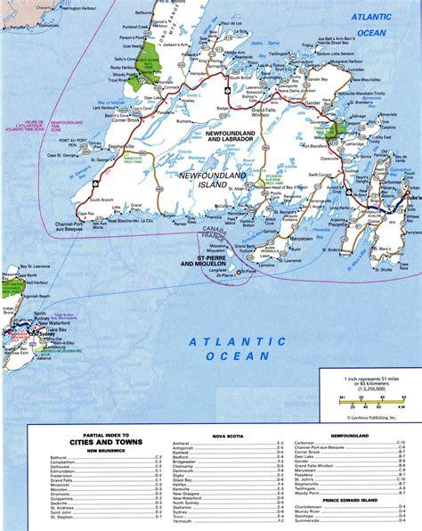 road map canada highway map newfoundlandfree maps of canada