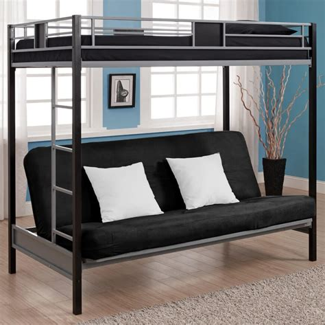 bunkbed with futon building futon bunk beds roof fence futons