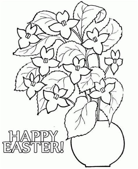 printable little flowers printable easter flowers colouring pages for little kids