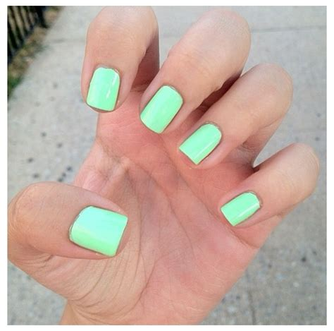 Mint Green Nail Polishes by Mint Green Nails S Things