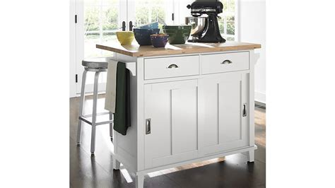 Belmont White Kitchen Island Belmont White Kitchen Island Crate And Barrel