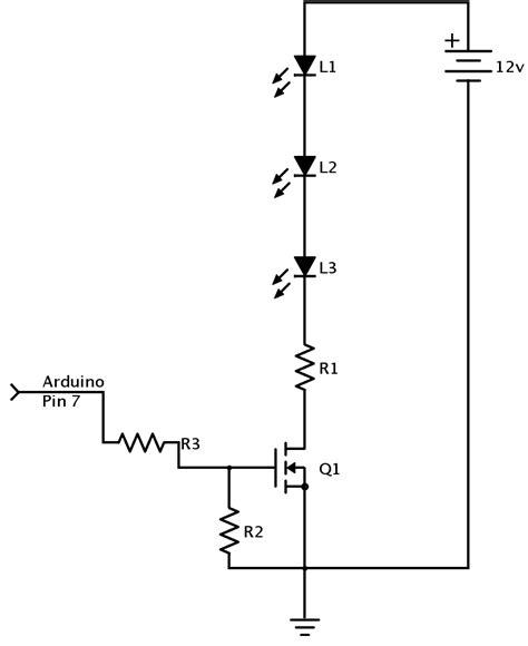 fet transistor arduino led brightness using pwm