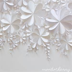 White Craft Paper - a small bite of mondocherry white on white