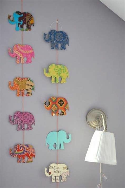 babyzimmer deko selber machen babyzimmer gestalten diy girlande elefanten basteln