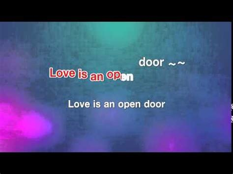 Is An Open Door Karaoke by Is An Open Door Santino Fontana Karaoke