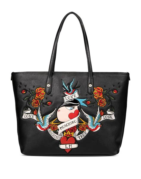 Moschino Bag moschino large fabric bag in black lyst