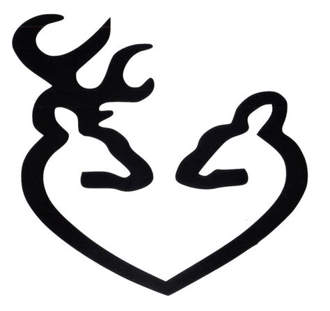 Browning Home Decor by Buck And Doe Deer Heads Car Or Truck Decal Ebay