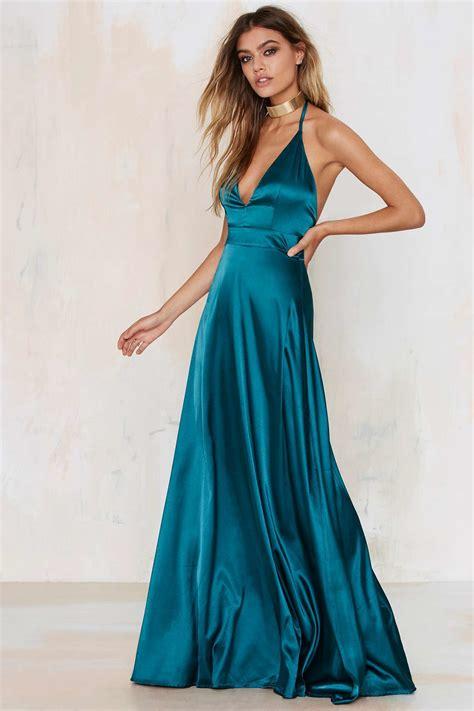 Dress Satin grand entrance satin maxi dress in blue lyst