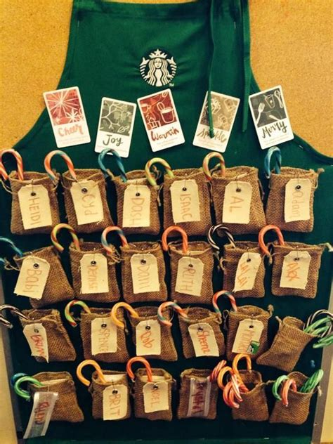 starbucks partner help desk holiday green apron board quot 9 to 5 quot pinterest aprons