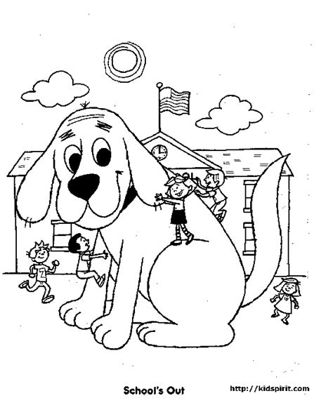 coloring pages of clifford the big red dog coloring home