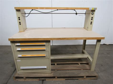 stanley work bench stanley vidmar 4 drawer work bench station 6 x3 butcher
