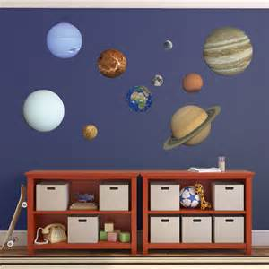 solar system wall stickers planet wall decals 9 planets plus moon educational