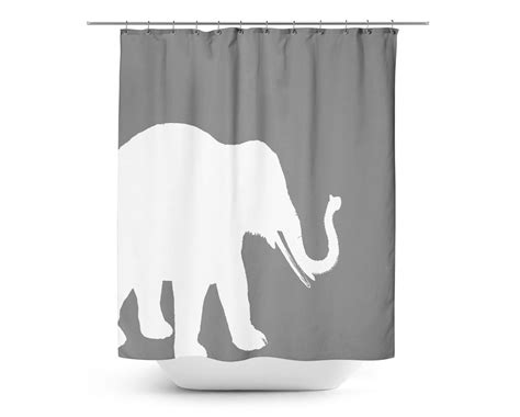 grey elephant curtains elephant shower curtain grey white art bathroom accessories