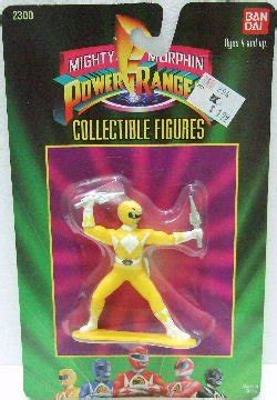 Limited Edition Kaos Mighty Morphin Power Rangers Yellow Laris 1993 ban dai mighty morphin power rangers 3 quot yellow collectible figure