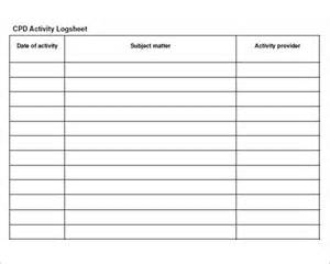 log sheet template 9 download free documents in pdf
