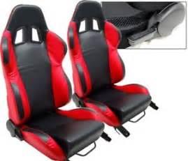 Ford Racing Seats 1 Pair Black Racing Seats Ford Mustang Cobra New