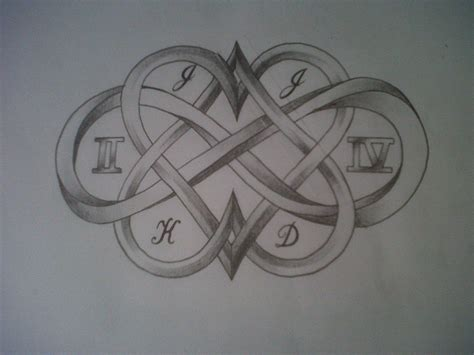infinity and heart tattoo hearts and infinity sign design by tattoosuzette on