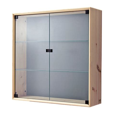 Ikea Glass Door Cabinet Norn 196 S Glass Door Wall Cabinet Ikea