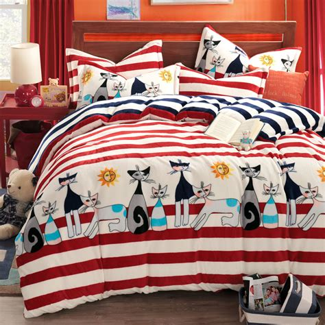 cat comforter sets kids bedding set anime bed sheets
