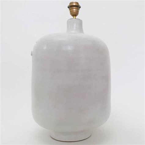 White Ceramic L Base by Large Ceramic L Base Glazed In White At 1stdibs