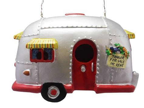 cer birdhouse trailer bird house airstream style rv
