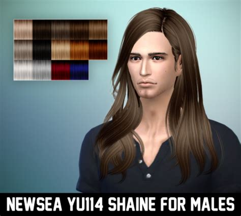 long hairstyles for men sims 4 my sims 4 blog newsea shaine hair for males by ritsuka