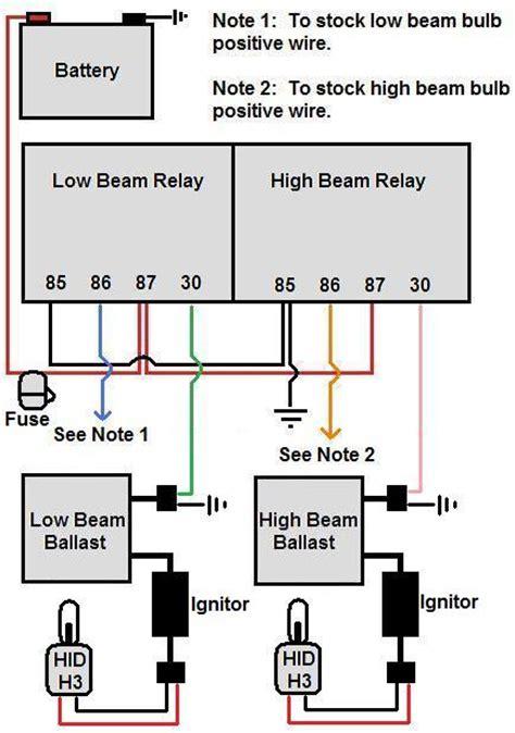hid relay wiring diagram cbr forum enthusiast forums
