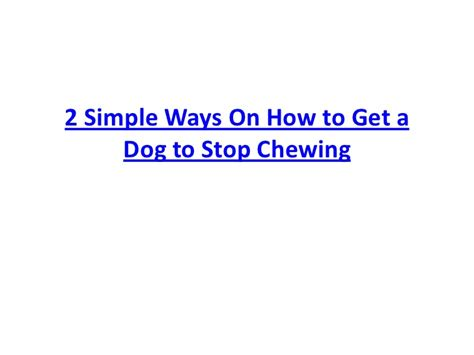 how to get a to stop chewing 2 simple ways on how to get a to stop chewing