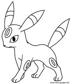 eevee evolution coloring pages printable