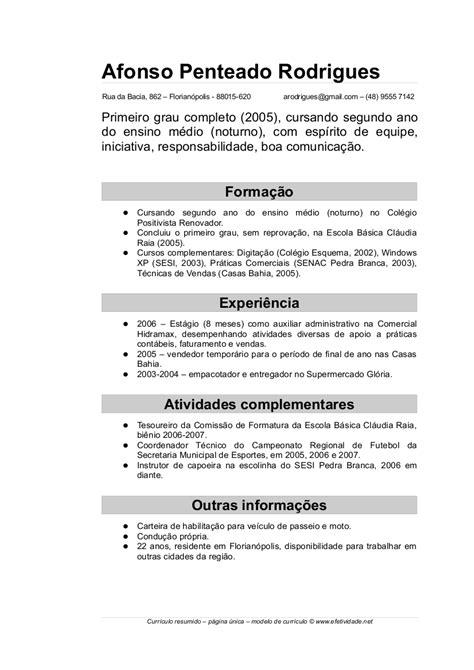 Modelo De Curriculum Vitae Completo Argentina Modelo De Curr 237 Culo Atualizado Dicas E Dica