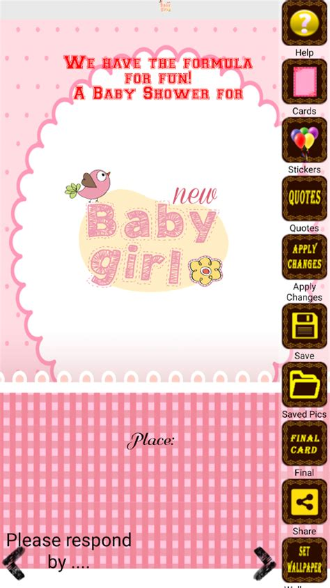 Baby Shower Apps by Baby Shower Invitation Maker Android Apps On Play