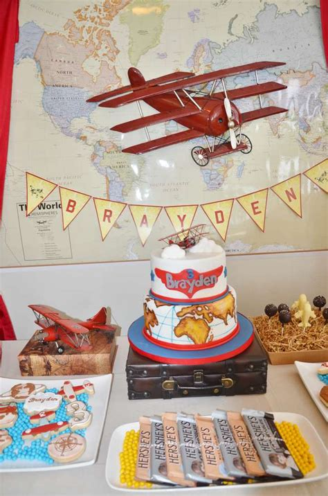 Vintage Airplane Birthday Decorations by Vintage Airplane Birthday Ideas Photo 1 Of 15