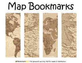 world book day bookmark template printable map bookmarks