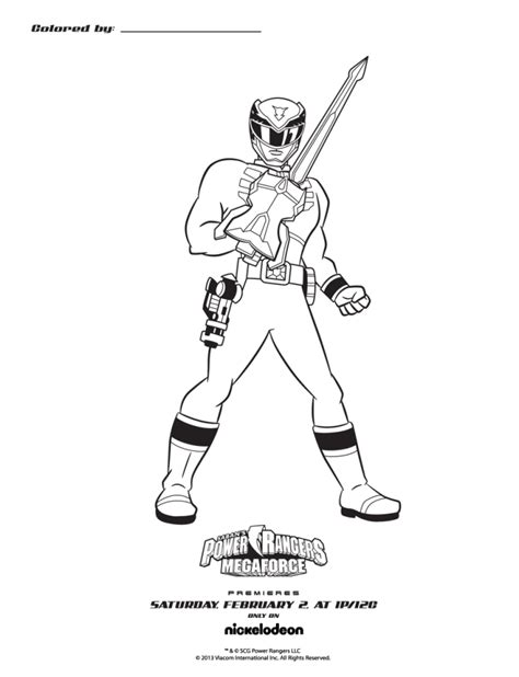 Power Rangers Megaforce Printable Coloring Pages