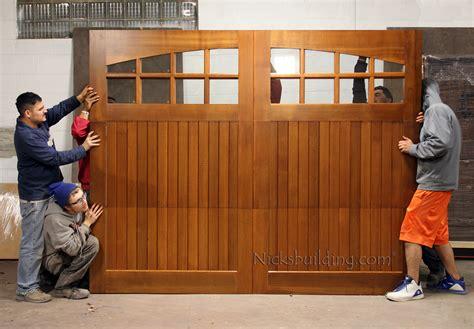 Wood Garage Door Builder by Building A Wooden Garage Door Pilotproject Org