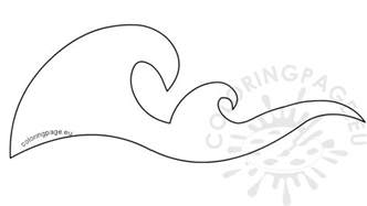 waves coloring pages waves border stencils printable coloring page