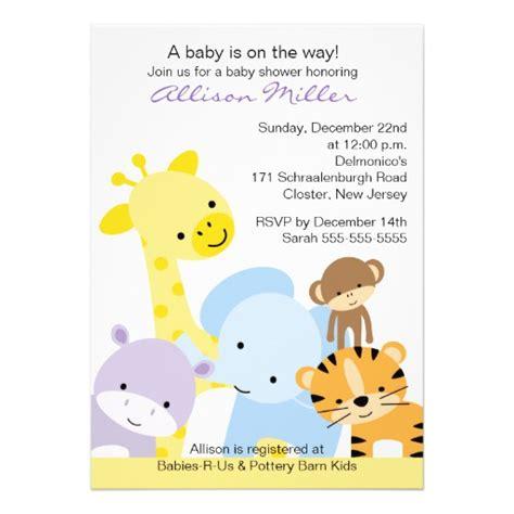 Baby Animal Shower by Baby Shower Invitation 2015