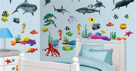 Wandtattoo Kinderzimmer Delfin by Wandtattoo Fische Wale Delfine Wasser Walltastic Wandsticker
