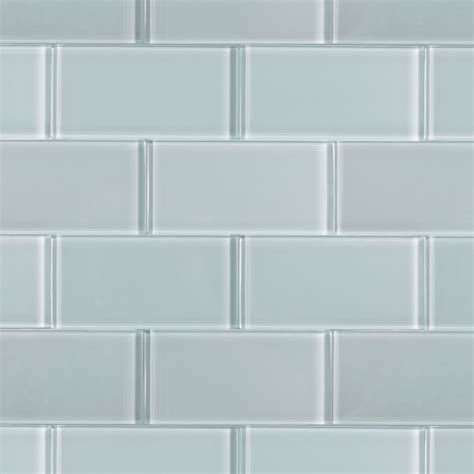 Brick Tile Kitchen Backsplash by Loft Natural White Polished 3x6 Glass Tile