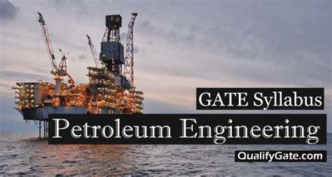 gate  syllabus  petroleum engineering pe