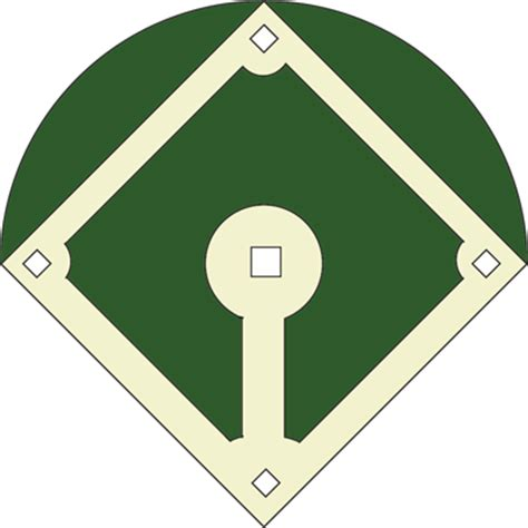 baseball diamond template printable clipart best