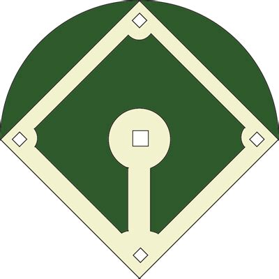 blank baseball field diagram clipart best
