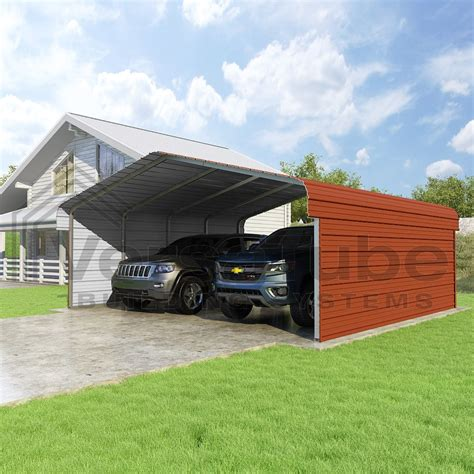 20 X 30 Carport classic carport 2 sided 20 x 20 x 7 carport or shelter building kits