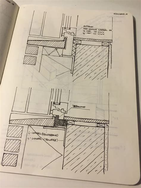 fensterbrett detail pin by ahmed sabeck on architecture sketches