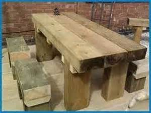 Garden Furniture Made From Railway Sleepers by Railway Sleeper Furniture Outdoors
