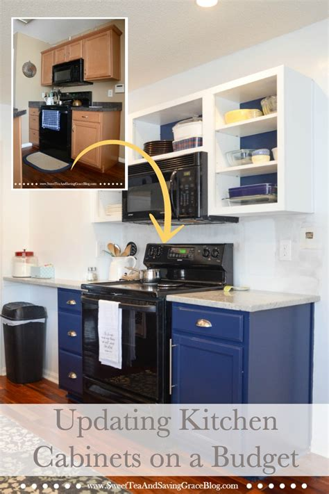 how to upgrade kitchen cabinets on a budget how to update kitchen cabinets on a budget sweet tea