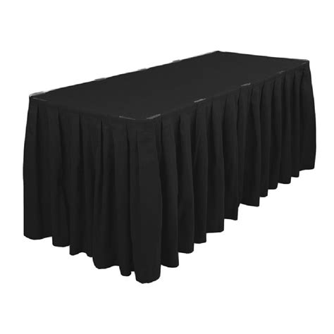 black polyester table skirt polyester table skirting 13ft black prestige linens