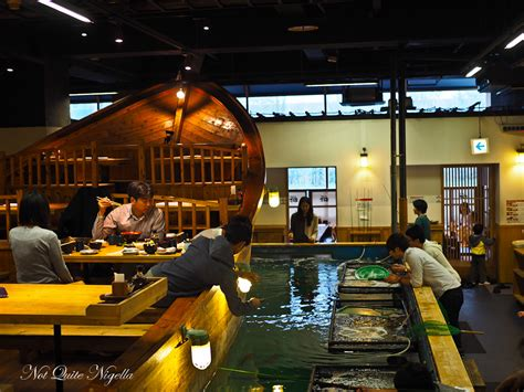 fishing boat restaurant japan tokyo uobei sushi zauo boat moomin house cafe ikinari
